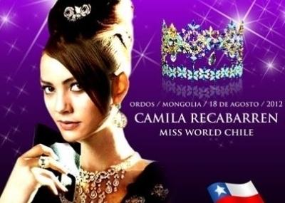 Miss Mundo 2012 Miss Chile Camila Recabarren No Quedó Entre Las 15